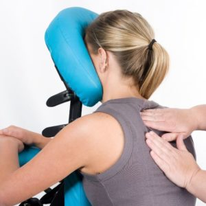 Chair Massage to relax the shoulders