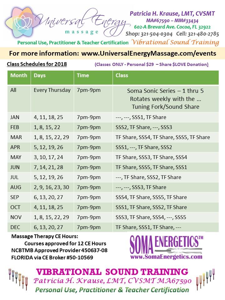 Tuning Fork Training Universal Energy Massage